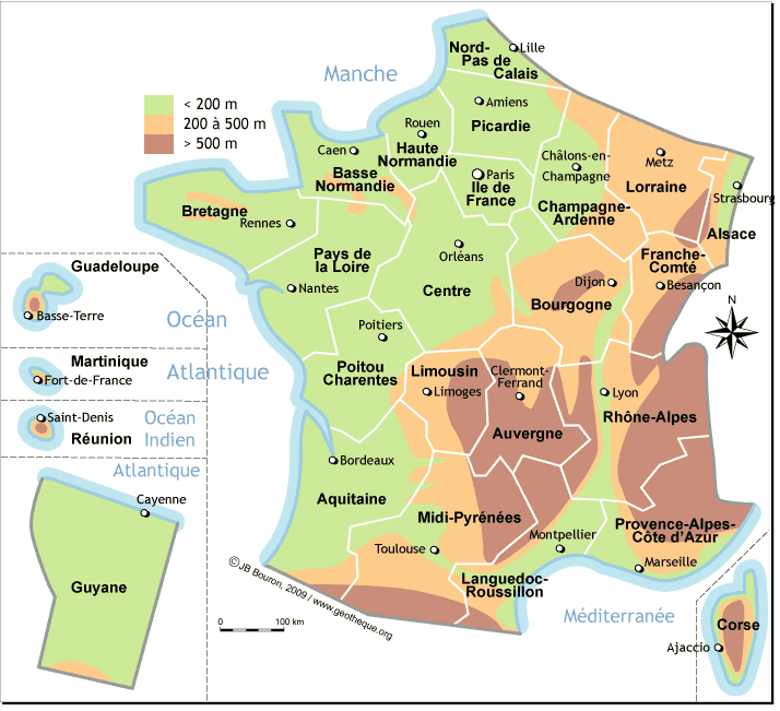 Carte De Relief De France | My blog