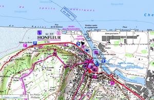 PHOTOGRAPHIE : Honfleur, le vieux bassin (Calvados) Honfleur-carte2-300x195