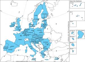 Carte parlante union européenne pays capitale 28 membres