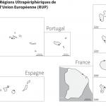 Régions Ultrapériphériques de l'Union Européenne : fond de carte muet