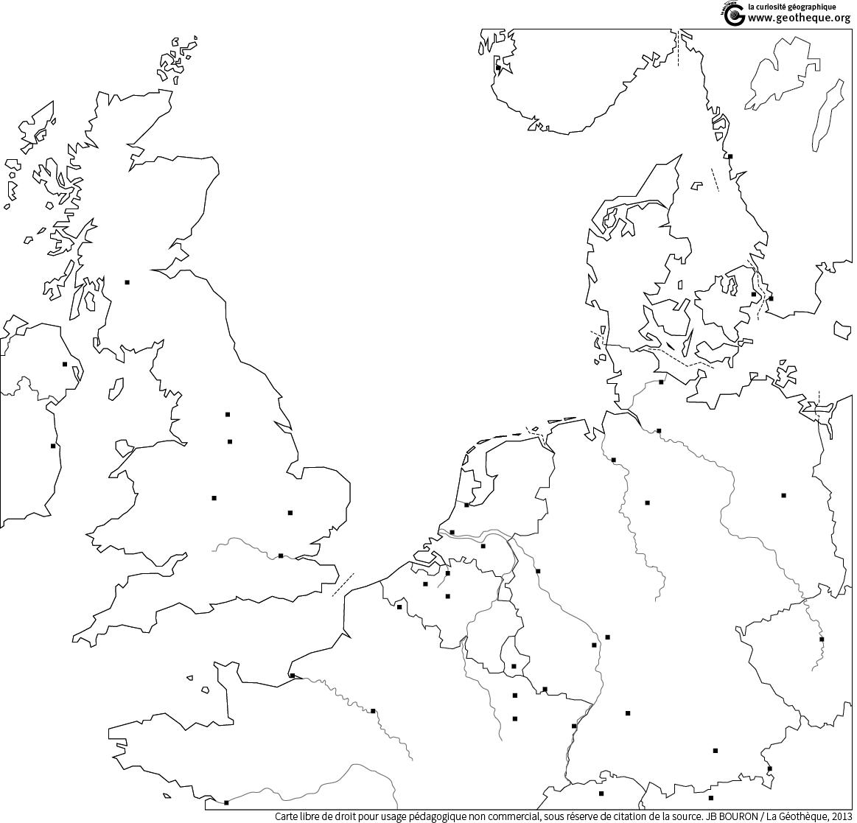 carte europe du nord vierge