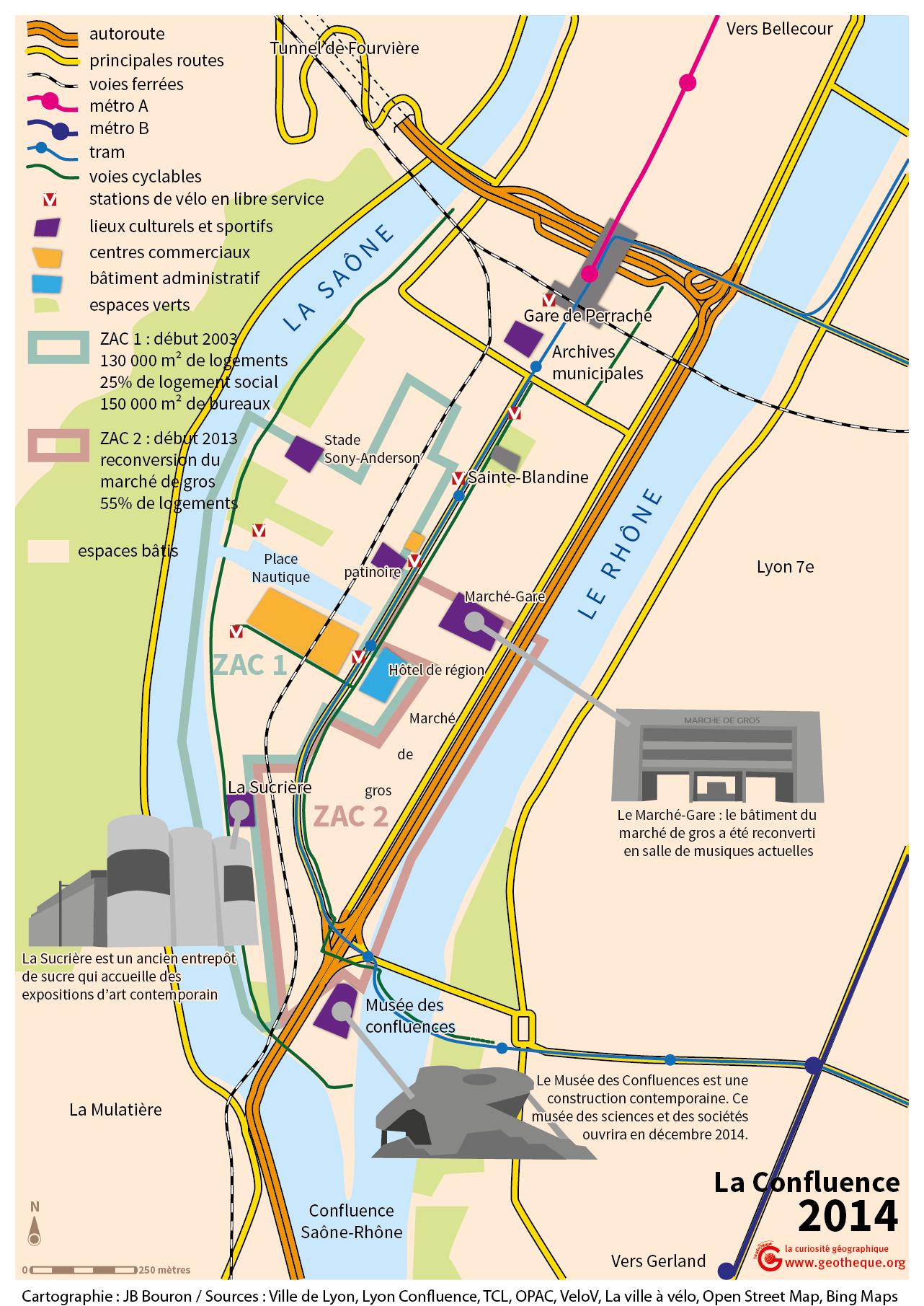 Cartes du site de la Confluence à LyonLa Géothèque