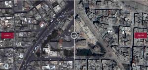 Avant-Après Syrie Quartier Homs