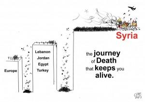 Caricature de Juan Zero publiée dans le journal en ligne syriemdl