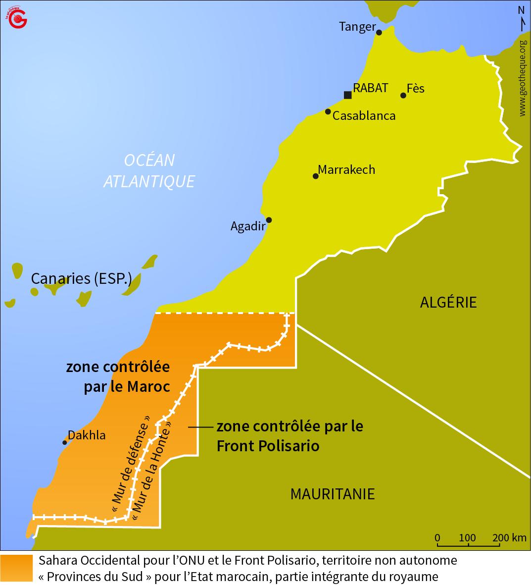 L'épineux Sahara Occidental et les tiretés de la colèreLa Géothèque