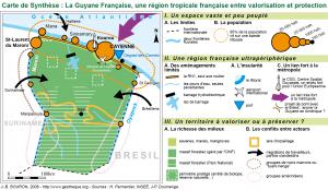 Guyane, carte de synthèse