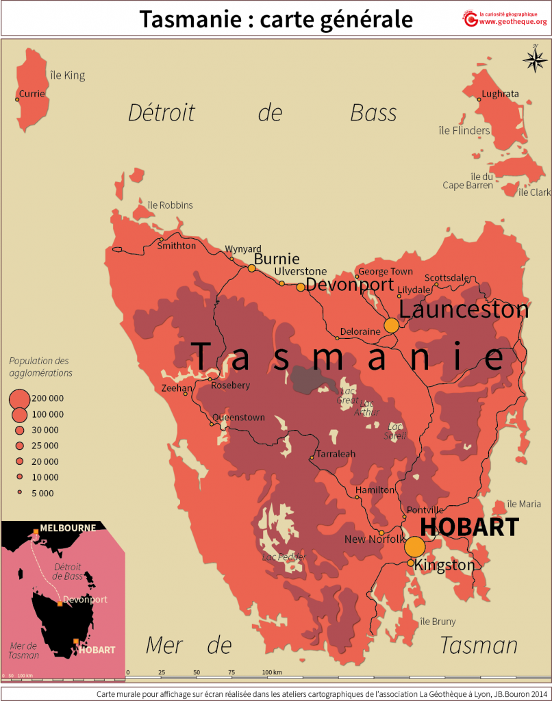 tasmanie carte