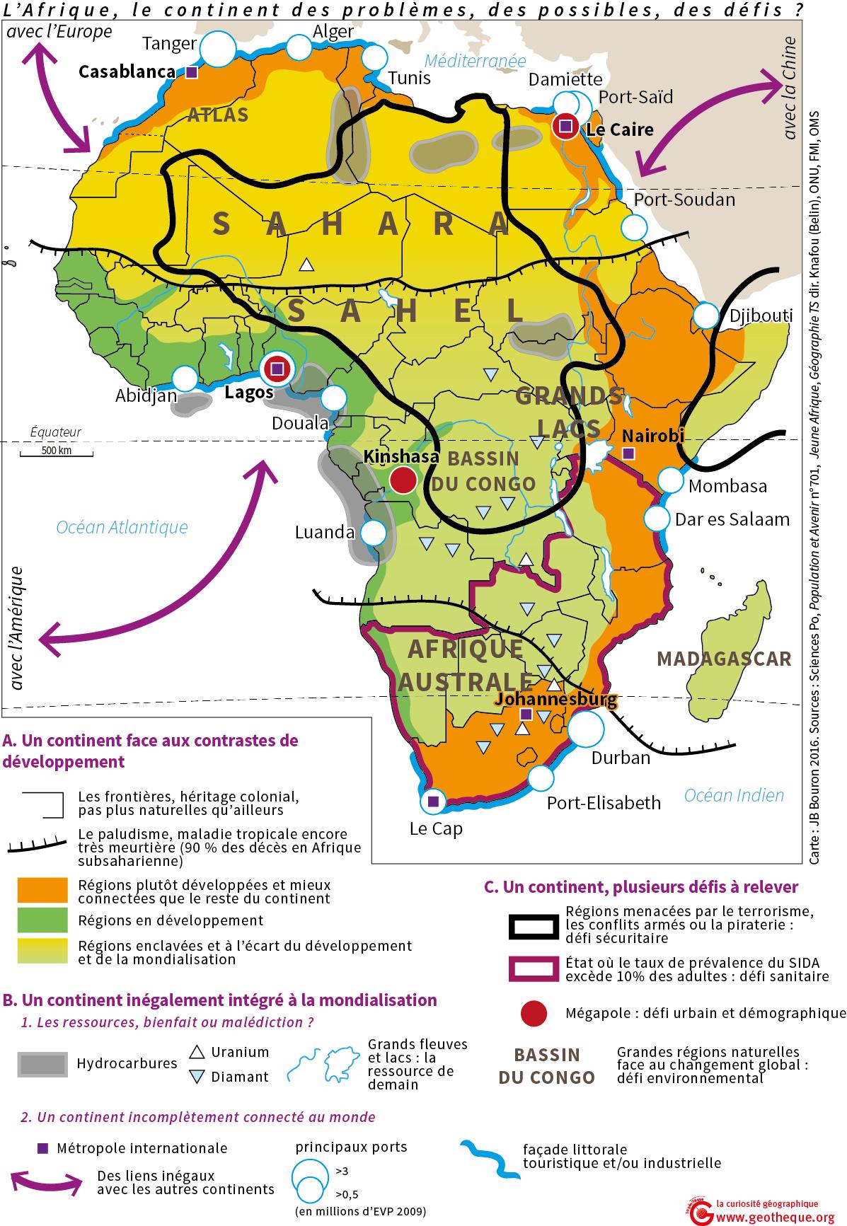 Carte Afrique Ressources Naturelles.L Afrique Le Continent Des Problemes Des Possibles Des
